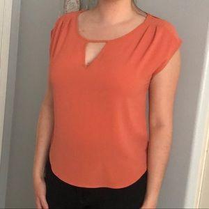 Adorable salmon pink blouse